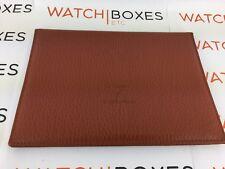 Franck Muller Leather Certificate Paperwork Holder Wallet Brown Leather - USED
