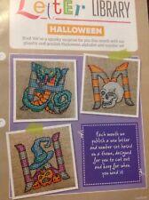 Halloween Alphabet ABC Numbers Snake Skull Pumpkins Owl Cat Cross Stitch Chart