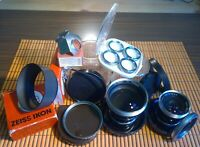 Zeiss Ikon Lenses Bundle Filters Pro-Tessar Objektive + Zubehörpaket Accessories