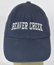 Navy Blue Beaver Creek Colorado Embroidered Baseball Hat Cap Adjustable Strap