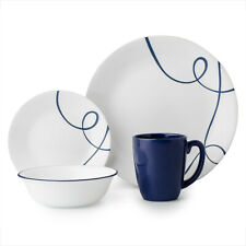 New ListingClassic Lia 16-piece Dinnerware Set - Glass, Stoneware, Calligraphy, Serve 4