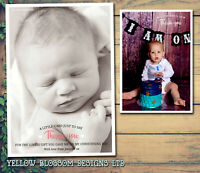 10 Thank You Photo Cards Personalised Christmas 1st Birthday Christening Baby