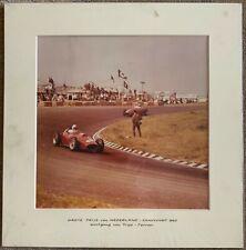 Wolfgang von Trips Ferrari Photo Mounted.