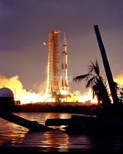 LAUNCH OF APOLLO 14 SATURN V ROCKET TO THE MOON - 8X10 NASA PHOTO (EP-430)