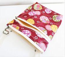 Red oriental Double zip Cross body/Messenger bag/Light weight/Adjustable strap