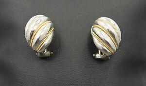 Tiffany & Co. 18k & Sterling Shrimp Huggie Earrings