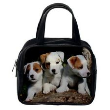 Jack Russell Terrier Puppies Dog Pup Puppy Womens Leather Bag Handbag 99374956