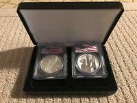 2001 WTC American Silver Eagle & 2011 9/11 10th Anniversary Silver Medal Set!
