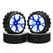 US STOCK 4PCS Rubber Rally Tyre Wheel PP0487 For HSP HPI RC 1:10 Off Road car