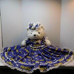 1989 Dayton Hudson Santa Bear With Homemade Vikings Dress