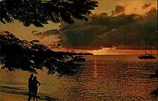 Grenada Antillen Antilles frankiert AK ~1960/70 Grand Anse Beach Sonnenuntergang