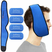 Lotfancy Reusable Hot or Cold Gel-pack With Stretch Wrap Pain Relief for TMJ