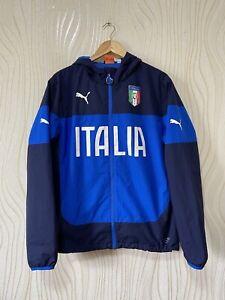 ITALY FOOTBALL SOCCER TRAINING RAIN TRACK TOP JACKET PUMA 744262
