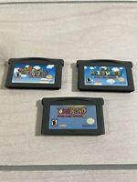 Super Mario Advance Lot Nintendo Game Boy Advance GBA Mario World Yoshi Island