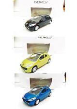 Lot de 3 Peugeot 207 3 Portes (Noir, Jaune, Bleu) 1/64 NOREV Neuf !!