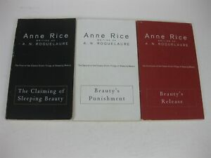 Anne Rice A N Roquelaure Lot Sleeping Beauty Trilogy Claiming Punishment Release