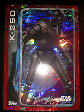 Topps Star Wars Rogue One Holo-Card 168 K-2SO Sammelkarte Trading Card