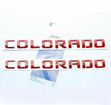 2x OEM Red COLORADO Nameplate Alloy Letter Emblem for COLORADO Chevrolet TE 2 YU