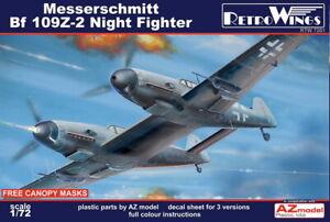 1/72 AZ RETRO WINGS; Messerschmitt Bf 109Z-2 Twin 109 - Zwilling Night Fighter