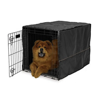 Dog Crate Cover 36 Durable 100 Polyester 5 Flaps High Quality  Black 36x23.2x24