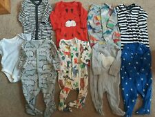 Newborn baby Boys Clothes winter Bundle 0 - 3 months 8 x NEXT sleepsuits & vest