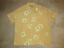 George Foreman Floral Hawaiian Button Up 100% Silk Shirt Sz 2XB Vacation Boxing