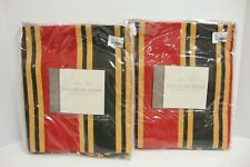 Rose Tree Pair European Striped Pillow Shams Bennet Cotton