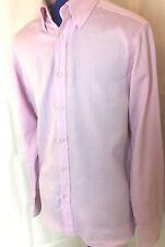 "TED BAKER 15.5"" Mens classy pink shirt endurance'long sleeve cotton office work"