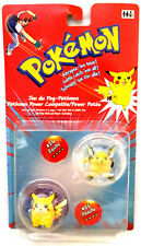 Pokemon Battle Figuren & Scheiben + Poke Ball Raichu Pikachu Hasbro 2000 Neu OVP