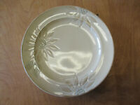 "Pfaltzgraff DAISY CHAIN Dinner Plate 11"" Cream Embossed 1 ea   9 available"