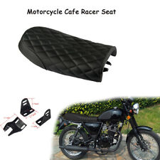 Universal PU Leather Motorcycle Cafe Racer Seat Saddle For Honda Suzuki Yamaha