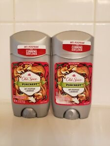 Lot of 2 Old Spice Foxcrest Anti-Perspirant & Deodorant, Wild Collection