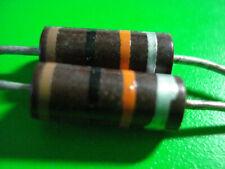Resistor (2) 1 Watt Carbon Composition Resistor 10k ohm 10% IRC NOS Canada