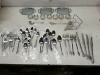 CustomCraft Stainless Steel Monogram K Flatware 50 Piece Set