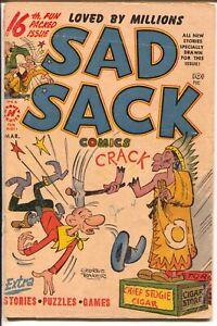 Sad Sack #16 1952-Harvey-cigar store Indian-George Baker art-G