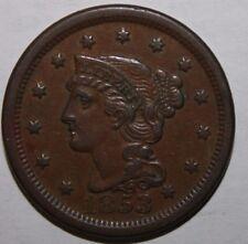1853 US Large Cent MC65