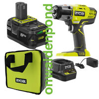 """RYOBI P261 18V ONE+ 1/2"""" IMPACT WRENCH TOOL + CHARGER 4.0AH BATTERY SET KIT NEW"""