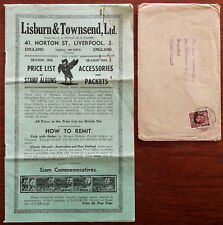 Lisburn & Townsend Ltd. Liverpool. Stamp & Acessories Catalogue 1936 + Envelope