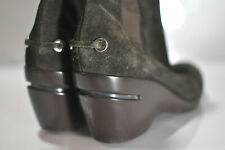 Cole Haan Womens wedge brown suede leather boots size 9 B