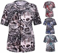 Polyester Short Sleeve Stretch Tops & Blouses for Women