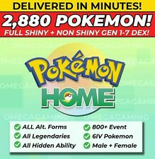 Pokemon Home 2880 Pokemon COMPLETE Gen 1-7 DEX 800+ EVENT, Legendary, ALL Forms