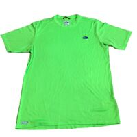 The North Face Mens Green Vapor Wick Short Sleeve T-Shirt Size Small