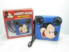 MICKEY MOUSE AM RADIO Radio Shack Model 12-909 3D FACE - WORKS - With Box