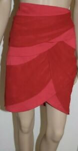 Evolve Skirt Size 8 Ladies Red Short Stretch Tiered Layered Zipper