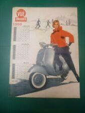 Sehr Selten Werbung Papier 1958 Vespa 35 X 26 CM ( 7 Modell Versch IN Verkäufe