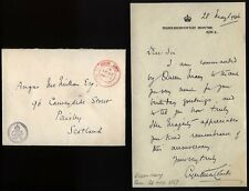 1946 MARLBOROUGH HOUSE -QUEEN MARYS BIRTHDAY - letter Cynthia Colville