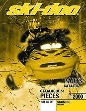 Ski-Doo parts manual catalog book 2000 SKANDIC 380 & SKANDIC 500