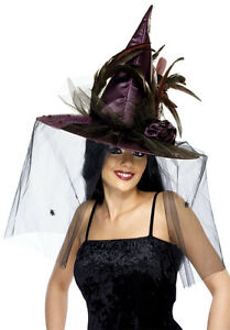 Deluxe Witch Hat - Burgundy  - Halloween Harry Potter WICKED west end