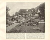1894 Vittoriano Stampa ~ Farnham Castle Surrey Aldershot ~ Forti ( Testo