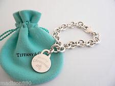 Tiffany & Co Silver Merry Chrismas Bracelet Bangle Charm Pendant Chain Clasp